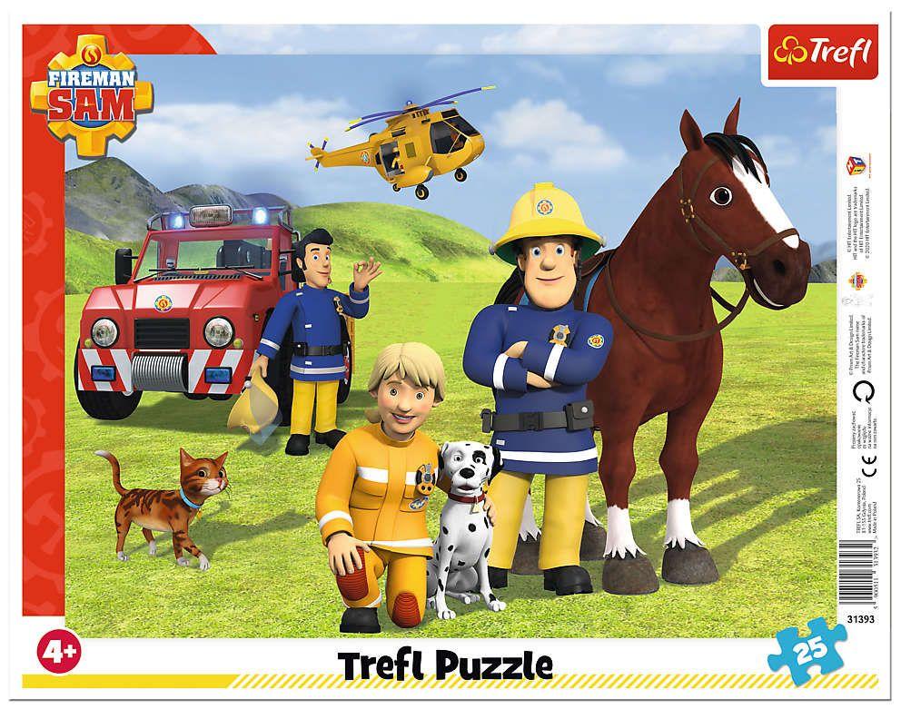 Trefl puzzle rámkové 25 dílků - Požárník Sam 31393