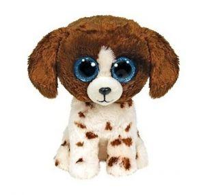 TY Beanie Boos - Muddles - bílo hnědý pejsek  - 15 cm plyšák