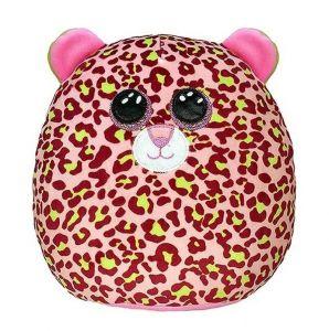 TY - plyšový polštářek - zvířátko  22 cm -  leopard Lainey 39299
