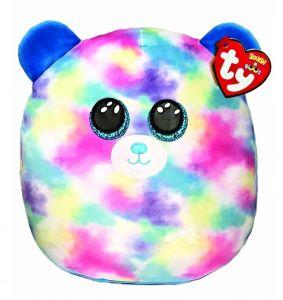 TY - plyšový polštářek - zvířátko  22 cm -  pastelový medvídek Hope 39298