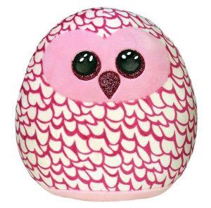 TY - plyšový polštářek - zvířátko  22 cm -  růžová sova  Pinky 39300