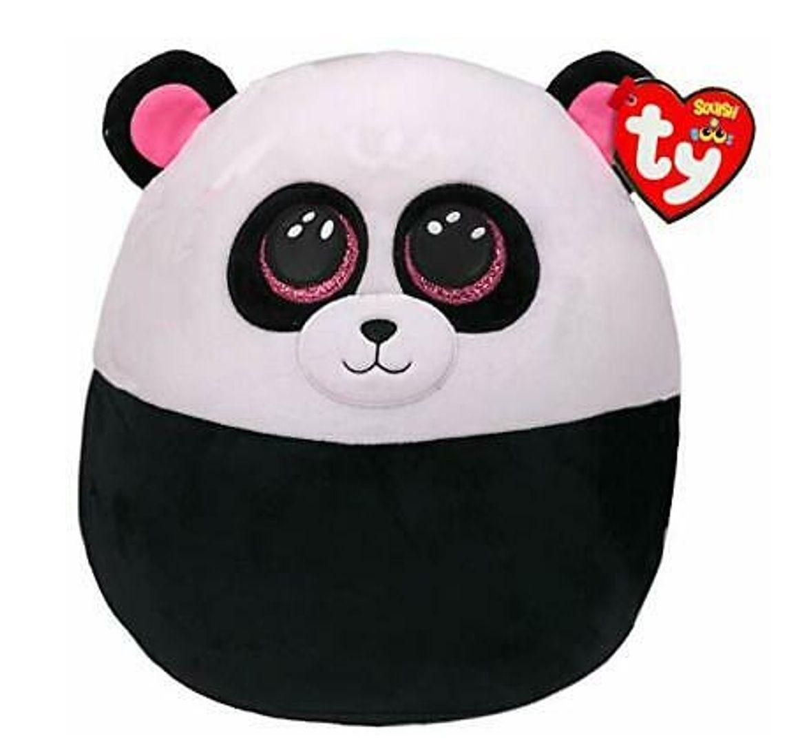 TY - plyšový polštářek - zvířátko 30 cm -panda Bamboo 39192