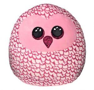 TY - plyšový polštářek - zvířátko  30 cm - růžová sova Pinky  39204