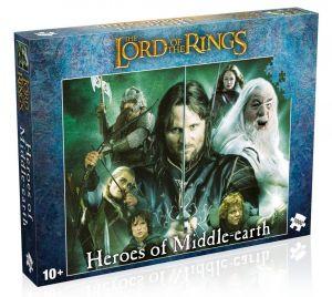 Winning Moves - puzzle 1000 dílků - Pán prstenů -  Hrdinové středozemí