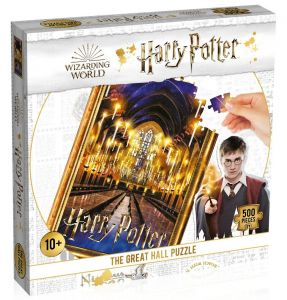Winning Moves - puzzle 500 dílků - Harry Potter  - Velký sál