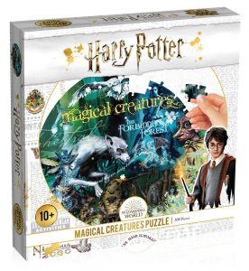 Winning Moves - puzzle 500 dílků kulaté  - Harry Potter  - Magická stvoření
