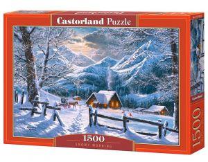 Castorland  Puzzle 1500 dílků  Zasněžené ráno 151905