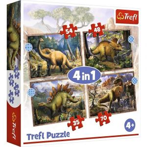 Trefl Puzzle 34383 -  Dinosauři     4v1 35 48 54 70 dílků