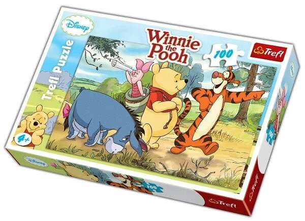 100 dílků - Medvídek Pú - na výletě - puzzle Trefl 16184