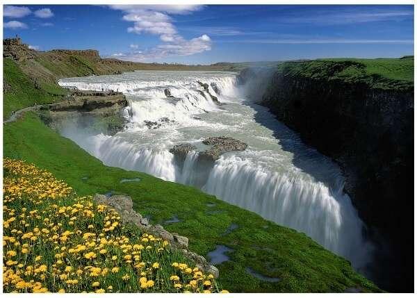 1000 dílků - Zlaté vodopády - Island - puzzle Trefl 10314
