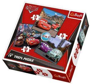 20, 36 a 50 dílků CARS 2 - auta  -  puzzle   Trefl  3v1