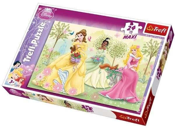 24 MAXI dílků - Princezny při fontáně - puzzle Trefl 14135