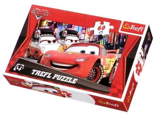 60 dílků - CARS 2 - vítěz - puzzle Trefl 17211