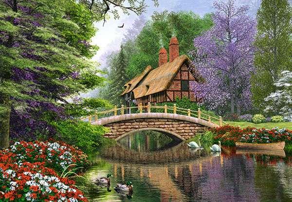 Castorland - Dům nad řekou - Puzzle 1000 dílků art. 102365