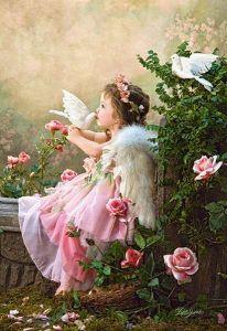 Castorland - Polibek anděla -  Puzzle 1000 dílků