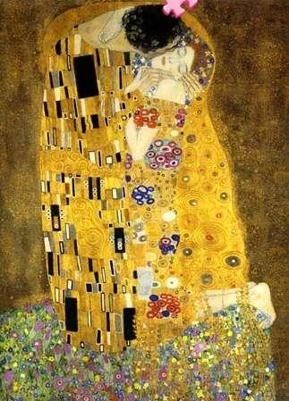1000 dílků - Klimt : Polibek - puzzle Ravensburger 157433
