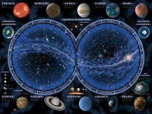 puzzle Ravensburger 1500 dílků  Hvězdná mapa oblohy 163731