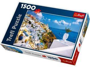 1500 dílků  Santorini Řecko  - puzzle Trefl