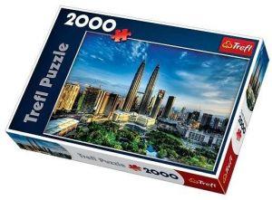 2000 dílků  Petronas Twin Towers   -  puzzle Trefl