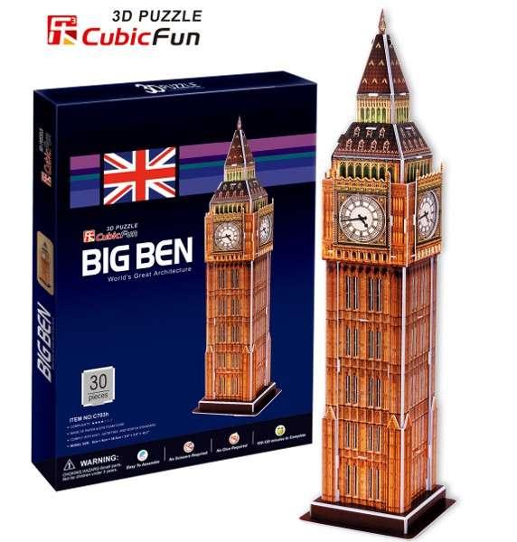 3 D Puzzle CubicFun - Big Ben 30 d. Cubic Fun
