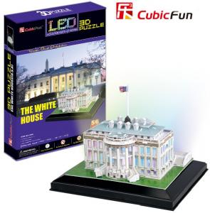 3 D Puzzle CubicFun - Bílý Dům 56 d. LED   - svítící