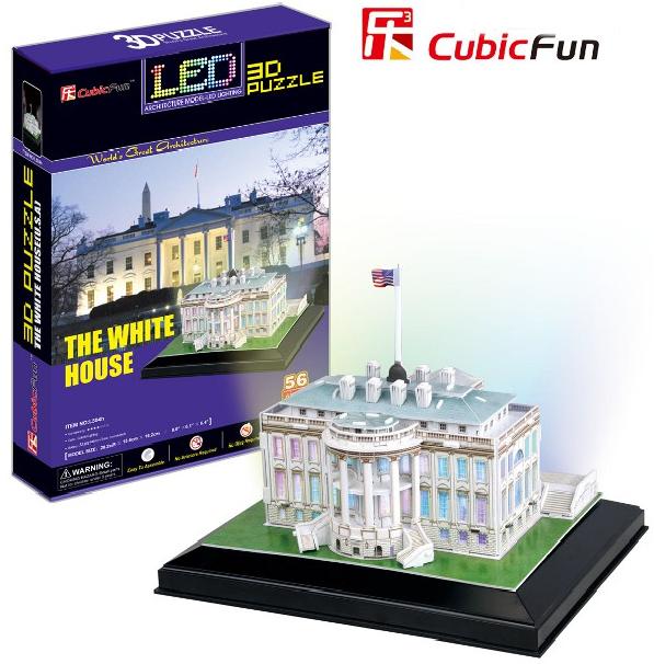 3 D Puzzle CubicFun - Bílý Dům 56 d. LED - svítící Cubic Fun