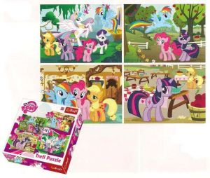 35, 48, 54 a 70  dílků -  4v1  My Little Pony -  puzzle   Trefl