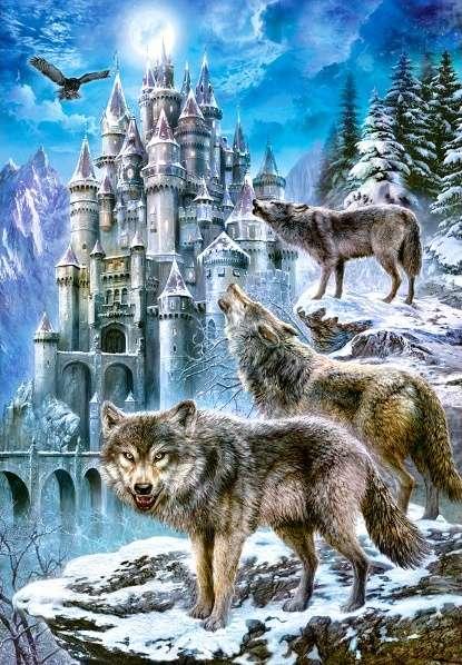 Castorland - Vlci u zámku - Puzzle 1500 dílků art. 151141