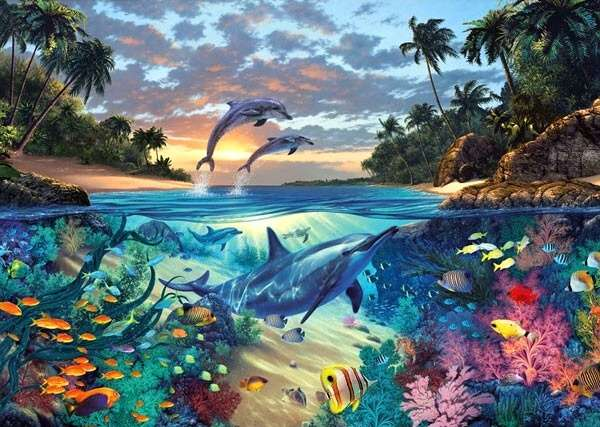 puzzle Ravensburger 1000 dílků - Korálový útes - 191451