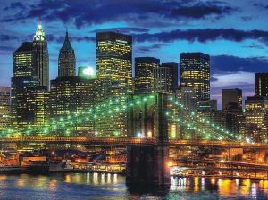puzzle Ravensburger  1500 dílků  New York v noci  162727