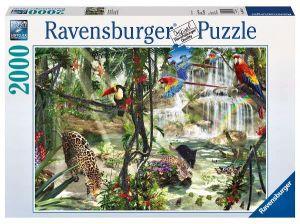 2000 dílků  V džungli  -  puzzle Ravensburger