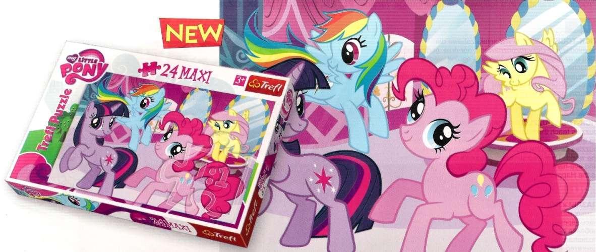 24 MAXI dílků - MLP - My Little Pony - puzzle Trefl 14182