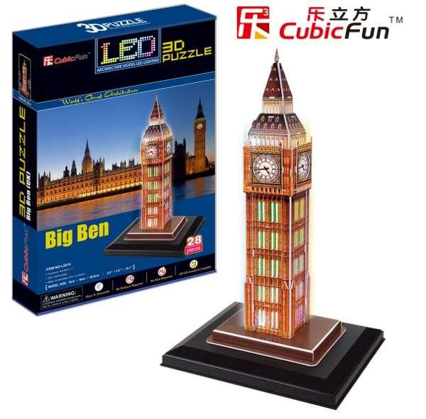 3 D Puzzle CubicFun - Big Ben 28 d. LED - svítící Cubic Fun