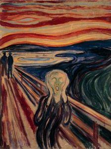 1000 dílků  -  E. Munch : Výkřik -   puzzle Ravensburger