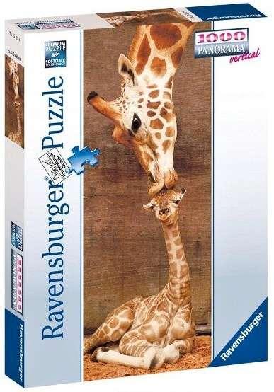 puzzle Ravensburger 1000 dílků panorama - Žirafy - 151158