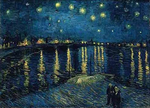 puzzle Ravensburger 1000 dílků - Van Gogh - Hvězdná noc - 156146