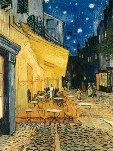 puzzle Ravensburger 1000 dílků - Van Gogh - Kavárna na terase v noci - 153732