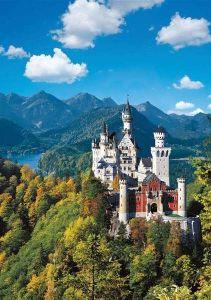 1000 dílků  - Zámek Neuschwanstein -   puzzle Ravensburger