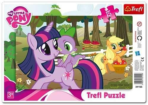 15 dílků My Little Pony - puzzle v rámečku ( rámkové ) puzzle Trefl 31155
