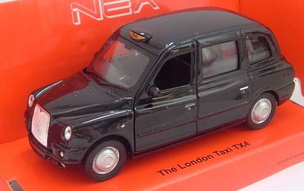 Austin London Taxi TX4 - black - 1:34 Welly NEX