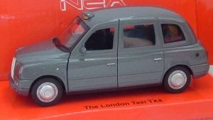 Austin London Taxi TX4 - grey  -  1:34  Welly  NEX