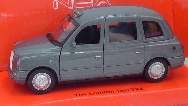 Austin London Taxi TX4 - grey - 1:34 Welly NEX