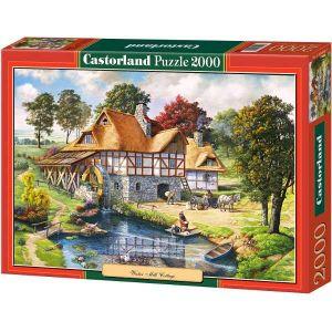Castorland - Copy  : vodní mlýn  - Puzzle 2000 dílků