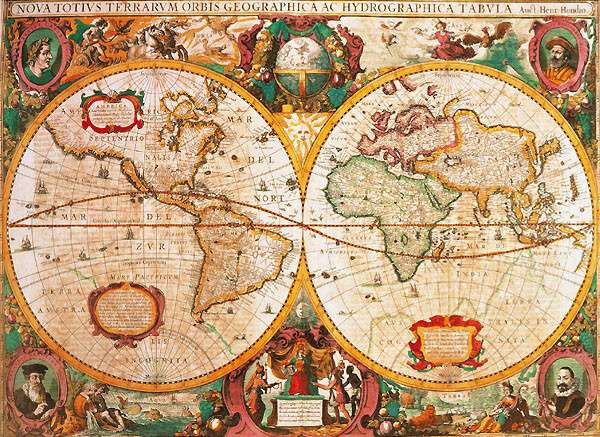 Puzzle Clementoni 1000 dílků - Antická mapa - Clementoni 31229