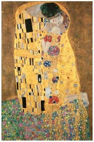 Puzzle Clementoni 1000 dílků - Klimt : Polibek - Clementoni 31442